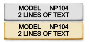 NP104 - DOUBLE LINE NAMEPLATE
