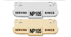 "NP105 - ""SERVING SINCE"" Year Bar"